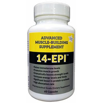14-Epi: Advanced Muscle Building Supplement - Promotes Muscular Growth - Boosts Testosterone - Increases Energy