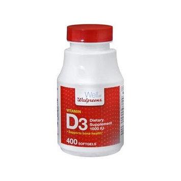 Walgreens Vitamin D3 1000 IU, Softgels 400 ea