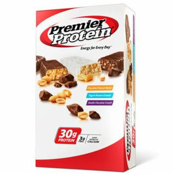 Premier Lean Protein Energy and Good Source of Calcium Bars with Zero Transfat- 18 Variety Pack of 2.5 Oz Bars : Chocolate Peanut Butter, Yogurt Peanut Crunch, Double Chocolate Chocolate Crunch