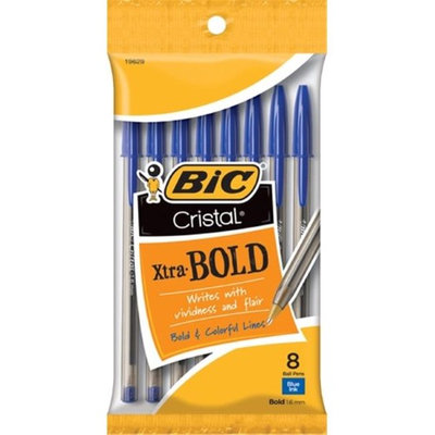 Bic Corporation MSBP81-BLU 1.6mm. Cristal Xtra Bold Stic Ballpoint Pen Blue