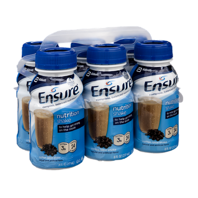 Ensure Nutrition Shake Coffee Latte Shake - 6 PK