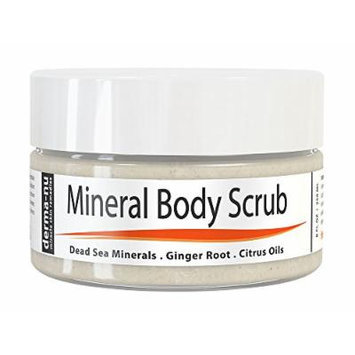 Dead Sea Salt Scrub By Derma-nu - Exfoliate Face, Body & Hands - Body Scrub Cleanses, Detoxifies and Mineralizes - Leaves Skin Soft and Smooth - Treatment for Psoriasis and Eczema Remedies - 8oz