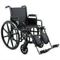 Medline MDS806650N 16 Inch Excel K3 Wheelchair Black