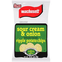 Generic Wachusett Ripple Sour Cream & Onion Flavored Potato Chips, 10 oz