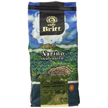 Cafe Britt Colombia Narino Whole Bean, 12 Ounce