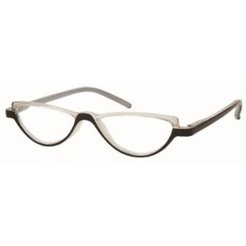 Solo Unisex Reading Glasses R7077-C3 Clear/Black Frame, Clear Powered Lens