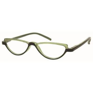 Solo Unisex Reading Glasses R7077-C2 Green/Black Frame, Clear Powered Lens