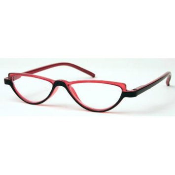 Solo Unisex Reading Glasses R7077-C1 Red/Black Frame, Clear Powered Lens