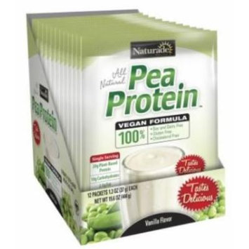 Naturade Pea Protein Supplement, Vanilla, 1.3 Ounce, 12 Count