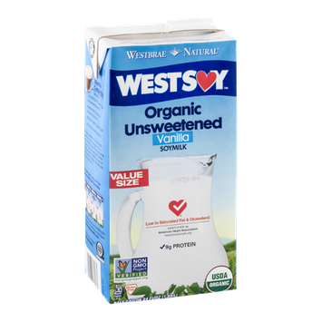 Westbrae Natural Westsoy Organic Unsweetened Vanilla Soymilk