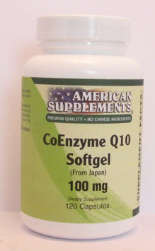 Coenzyme Q10 100 MG No Chinese Ingredients American Supplements 120 Softgel