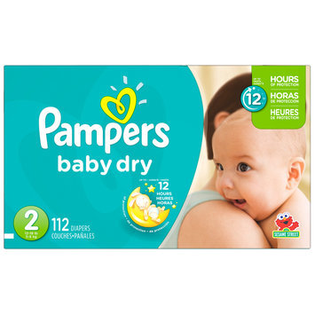 Babies R Us Pampers Diapers Baby Dry Size 2 Super 112 count