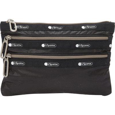 LeSportsac - Classic 3-Zip Pouch (True Black) Wallet