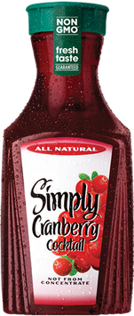 Simply Cranberry® Cocktail All Natural Juice
