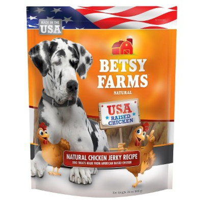 Betsy Farms Besty Farms Natural Chicken Jerky Treat for Dogs - 24 Oz