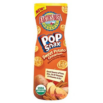 Earth's Best Organic Sweet Potato and Cinnamon Flavor Pop Snax in Canister