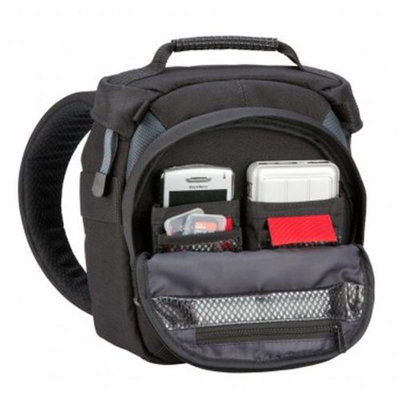 Tamrac 5776 Velocity 6Z Compact Sling Bag, Dark Gray/Burgundy