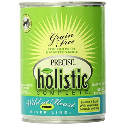Precise Pet Precise Holistic Completewild At Heart Salmon And Trout Canned Dog Food 13.2 Oz - Case Of 12
