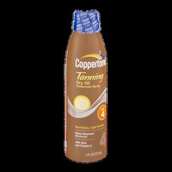 Coopertone Tanning Dry Oil Sunscreen Spray SPF 4