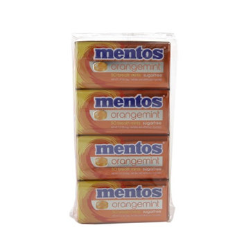 Mentos Sugar Free Breath Mints, Orange Mint, 12 ea