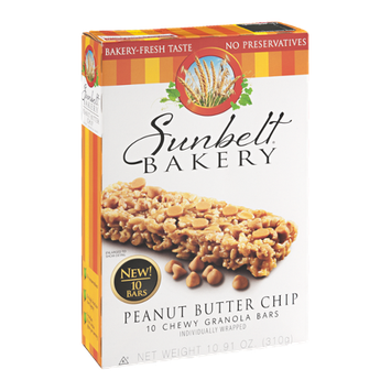 Sunbelt Bakery Granola Bars Peanut Butter Chip