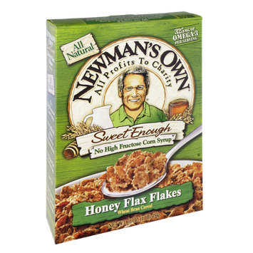 Newman's Own All Natural Honey Flax Flakes Cereal