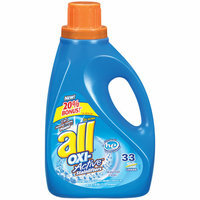 ALL WHITES All 2X Ultra Oxi-Active Stainlifters Waterfall Clean Liquid Laundry Detergent