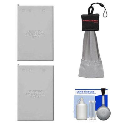 (2) Power2000 EN-EL5 Rechargeable Batteries with Spudz + Cleaning Kit for Nikon Coolpix P90, P100, P500, P510 & P6000 Digital Camera
