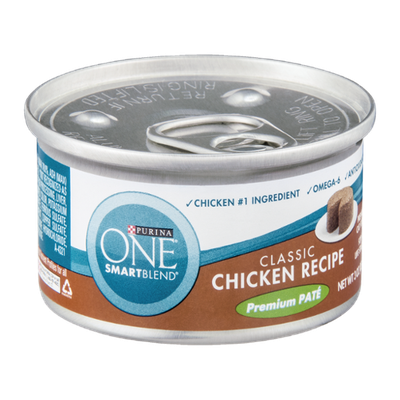 Purina One Smartblend Classic Chicken Recipe Premium Pate