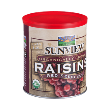 Sunview Raisins Red Seedless Organic Jumbo Size