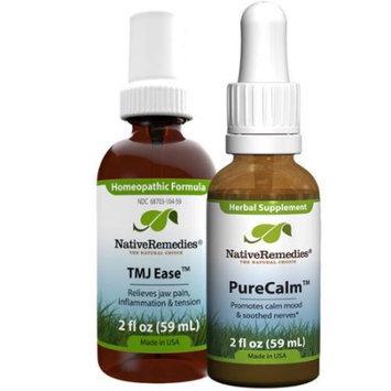 Native Remedies Native Remedies TMJ Relief Combopack - TMJ Ease + PureCalm