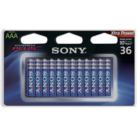 Sony S-AM4B36A Stamina Plus Alkaline Batteries, 36pk