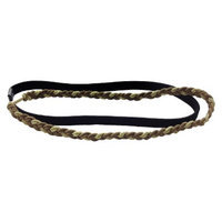TONI&GUY Gold Braided and Black Elastic HairWraps - 2 Count