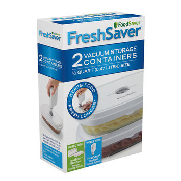 Foodsaver Deli Container & Zipper Bag Bundle White