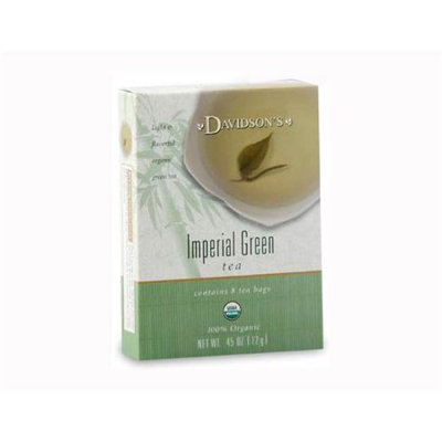 Davidson's Tea Davidson Organic Tea 2233 Imperial Green Tea Box of 8