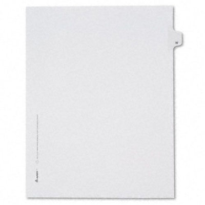 Avery Allstate-Style Legal Side Tab Divider, Letter, White, 25/Pack