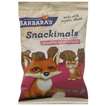 Barbaras Barbara's Snackimals Double Chocolate Animal Cookies, 2.125 oz, (Pack of 18)