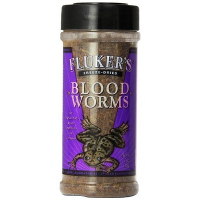 Flukers Fluker Labs SFK72005 Freeze-Dried Bloodworms Small Animal Food, .7-Ounce