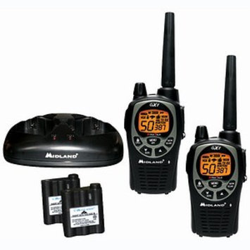 Midland 50-Channel Gmrs Radio Pair Pack With Batteries & Drop-In Charger