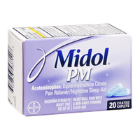 Midol PM Maximum Strength Multi-Symptom Relief Coated Caplets