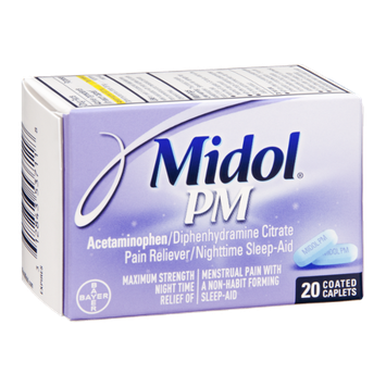 Midol PM Maximum Strength Multi-Symptom Relief Coated Caplets - 20 CT