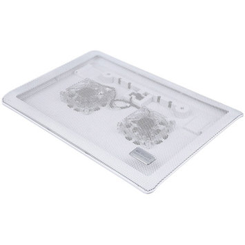 Merkury Mi-cp300-199 Dual Fan Square Laptop Cooling Pad, White