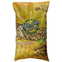 Hampton Farms No Salt Roasted In Shell Peanuts - 5lb Bag