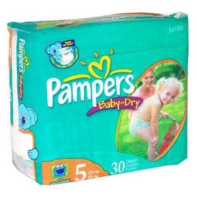 Pampers Baby Dry Diapers, Size 5, Jumbo Pack, 30 ct