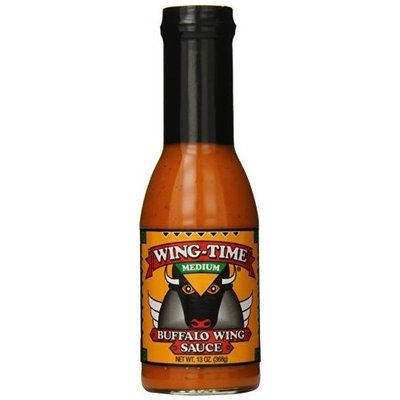 Wing-time Wing Time Buffalo Wing Sauce, Medium, 13 Ounce