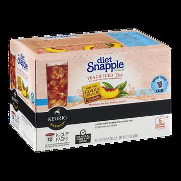 Diet Snapple Keurig K-Cup Packs Peach Iced Tea - 12 CT
