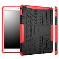 iPad Air 2 Case - roocase [TRAC Armor] iPad Air 2 2014 Hybrid Dual Layer Rugged Case Cover with Kickstand for Apple iPad Air 2 (2014) 6th Generation Latest Model, Red