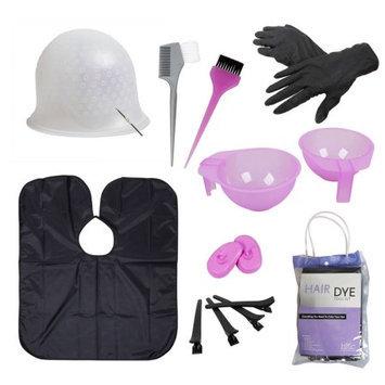 Bundle Monster BMC Hair Dye Coloring Tool Kit-Highlighting Cap, Hook, Brush, Bowl, Clip, Cape