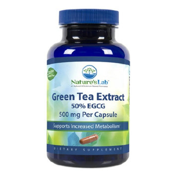 Nature's Lab Green Tea Extract 50% EGCG, 500mg, Capsules
