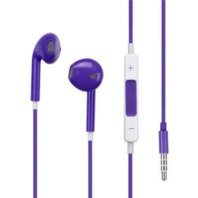 Insten INSTEN Purple 3.5mm Headphones Earphones Volume Control For Apple iPhone 4 4s 5s 5c iPod